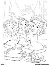 Small Picture Free Printable Sofia the First Coloring Pages Earlymomentscom