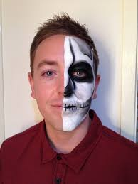 half face skeleton front view