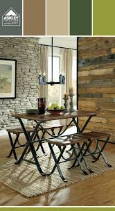 signature design by ashley freimore vine cal brown wood metal rect drm table set find this pin and more on dining room furniture