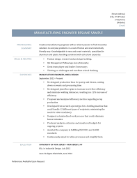 Manufacturing Engineere Engineering Manager Examples Sample Of