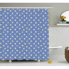fl shower curtain white and yellow