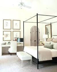 Canopy Bed Blackout Curtains Black Adorable Metal With Beds And ...