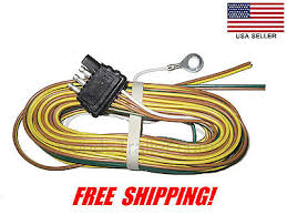 25 4 way trailer wiring connection kit flat wire extension trailer wire harness 4 way plug flat 25 trailer wiring harness 425yh