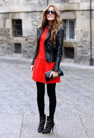 black leather jackets street style 2