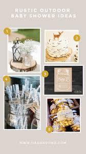 Baby-Q Mason Jar Baby Shower Invitation | 4. Birch Tree Paper Straws | 5.  Rustic Carmel Corn in Mason Jar Party Favor