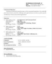 Format Of Writing A Curriculum Vitae – Globalhood.org