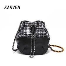 girls cute korean bags bucket leather shoulder sling bags for women drawstring handbags las small cross bucket hobo handbags luxury handbags from