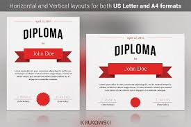 diploma certificate template stationery templates creative market diploma certificate template stationery