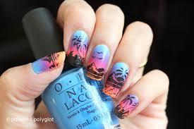 Nail Art │ Sunrise on the beach inspired nail design [26GNAI ...