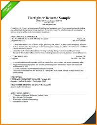 Firefighter Resume Templates Impressive Emt Resume Sample Resume Examples Resume Examples Firefighter Resume