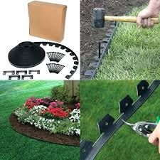 landscape edging borders black flower bed garden border trim plastic board kit ft flexible no dig