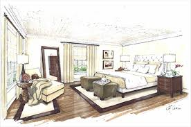 Perfect Room Design Sketch Interior Design Process Bedroom Colored Sketch Concept  Pretty House Decorations