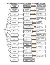 Apostles Death Chart Lds The Apostles Chart By Dr Scott Hahn Showing The