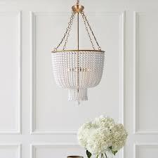 white beaded pendant chandelier designs