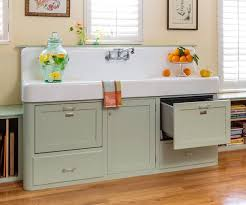 retro kitchen redo apron sink vintage apron and custom cabinets
