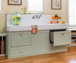 retro kitchen redo apron sink vintage apron and custom cabinets