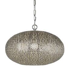 Moroccan Ceiling Light Uk Moroccan Ceiling Pendant Light In Shiny Nickel Finish