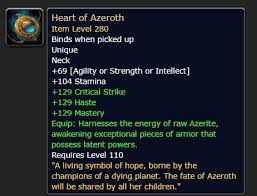 Heart Of Azeroth Overview Necklace And Essences 8 2 5