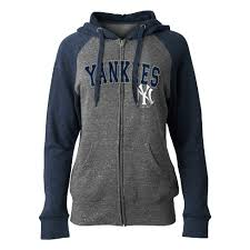 S York On Women's Yankees Deck Full Zip Hoodie New Mlb