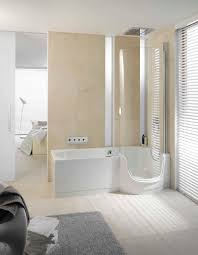 ... Bathtubs Idea, Corner Shower Tub Combo One Piece Bathtub Shower Combo  Portable Walk In Jacuzzi
