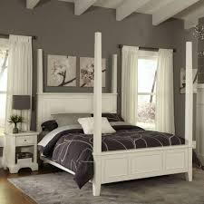 home styles naples white king poster bed
