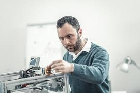 Printer Technician Printer Technician Fixing Printer Stock Photo Image Of
