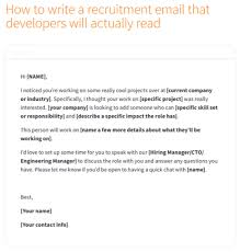 How To Write A Recruitment Email To Developers