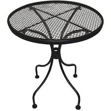 deck wrought iron table. Patio Table Side Outdoor Furniture Bar Lawn Deck Wrought Iron Within Metal Round Plan D