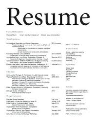 Resume Architecture Resume Contact Information Sample Resume ...