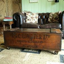 astonishing vintage trunk coffee table decorative trunks old leather side with wheels world wooden furniture