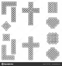 Keltském Stylu Nekonečný Uzel Symboly Včetně Ohraničení Linie