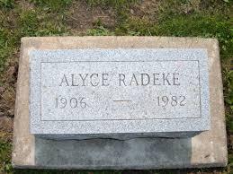 "Alyce ""Bertha"" Hilton Radeke (1906-1982) - Find A Grave Memorial"