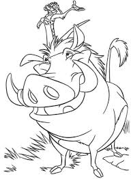 Small Picture Simba Timon And Pumbaa Crossing A Bridge The Lion King Coloring