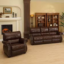 Italian Leather Living Room Sets Abbyson Lorenzo Dark Burgundy Italian Leather Chair And Sofa Set