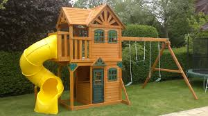 outdoor playhouse costco dazzling smothery cedar summit shelbyville playset gallery to riveting