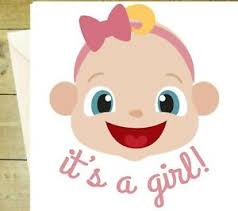 Congrats Baby Born Details About Its A Girl Congratulations Card Cute Pink New Baby Birth Greeting Glitter
