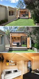 home office studio. This Small Backyard Studio Has Been Carefully Designed To Accommodate A Couch, Work Space, And Lofted Sleeping Area Create The Ultimate Home Office
