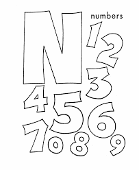 Small Picture ABC Coloring Sheet Letter N is for Numbers coloring book alph