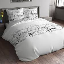 curly available bedding home sweet home white