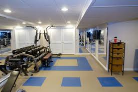 basement gym ideas. Plain Gym AFTER Lights Ceiling Walls Mirrors And A Creative Approached To  Flooring In Basement Gym Ideas Y