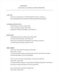 Hvac Installer Resume Installer Resume Resume Examples Resume Hvac