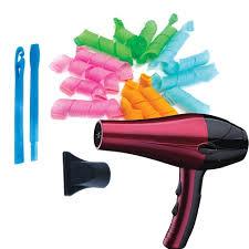 Máy sấy tóc 2 chiều nóng lạnh 2200W màu ngẫu nhiên + Tặng Bộ uốn tóc không  dùng nhiệt - Máy sấy tóc Nhãn hiệu OEM