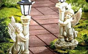 max studio home decor solar garden decorative stake black glass outdoor lantern lights angel statues china seasonal hopeful cherub decorating pillow