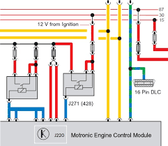 vw polo vag relay indetification vag engine control module relay circuit showing the relay output powering up the ecu
