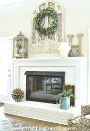 Fireplace ornaments Ideas - i want that frame with a wreath that i have  made in