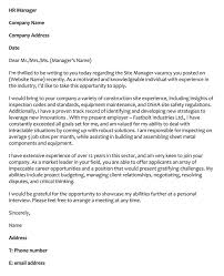 Sample Construction Cover Letters 66 Cover Letter Samples And Correct Format To Write It
