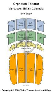 Imperial Vancouver Seating Chart Orpheum Theatre Bc Seating Chart