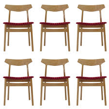 henning kjærnulf white oak danish dining chairs for sale at stdibs