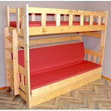 Letto a castello legno per adulti doghe comprese, trasformabile in letti singoli dimensioni: Letto A Castello In Legno Massello Fabio Con Materassi 180x80 E 180