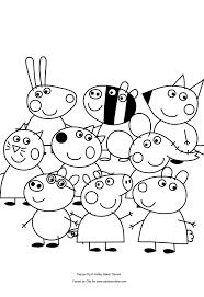Disegno Di Peppa Pig E I Suoi Amici Da Colorare